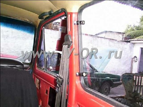 www.V-OR.ru Внедорожные Оконные Решения Поворотное окно Нива